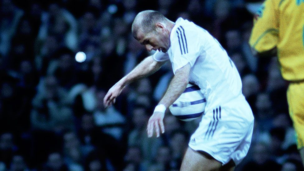 Video installation Zidane: A 21 Century Portrait presents an entire game but with the camera trained on Zinedine Zidane for its duration. (Philippe Parreno and Douglas Gordon)