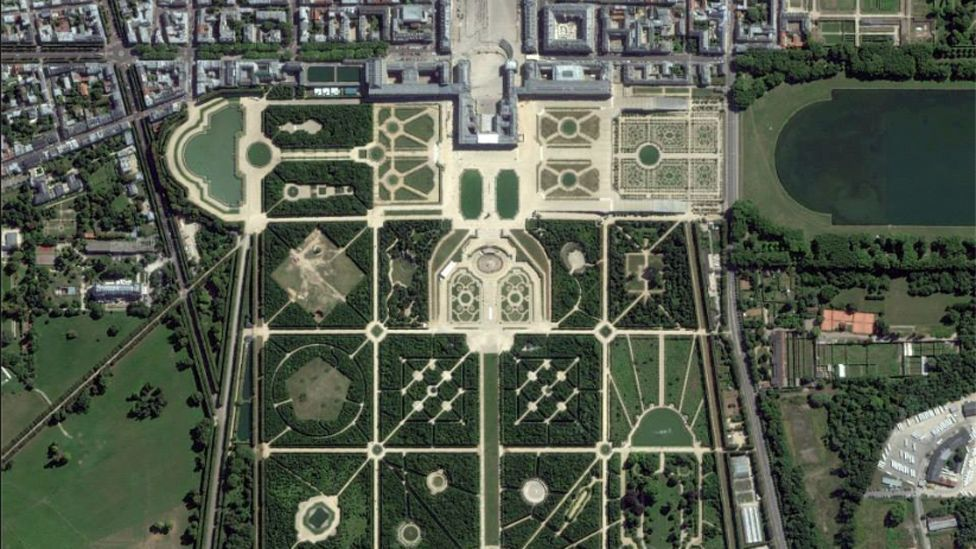 DigitalGlobe's satellites have captured a wealth of views, such as this of Paris's Versailles Palace (DigitalGlobe)
