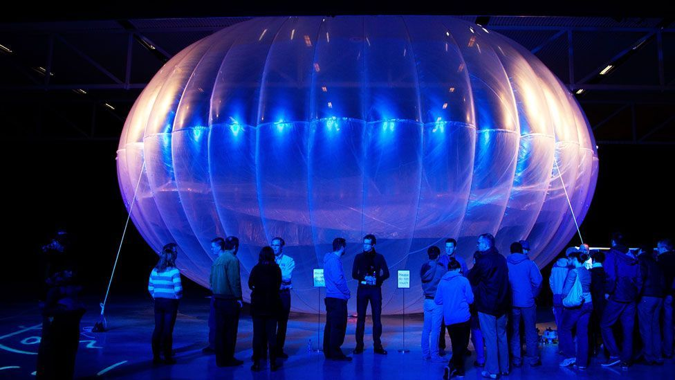 Google's Loon project aims to get cut-off people online by using balloons. (Getty)