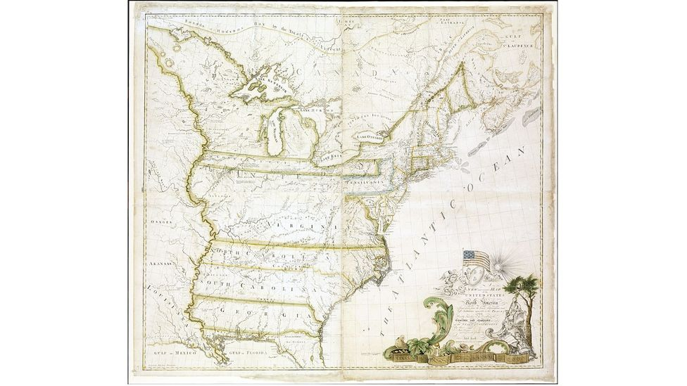 This 1784 map by Abel Buell, the first to be published in America, set a world auction record when it sold for almost $2.1m in 2010. (Christie's Images Ltd)
