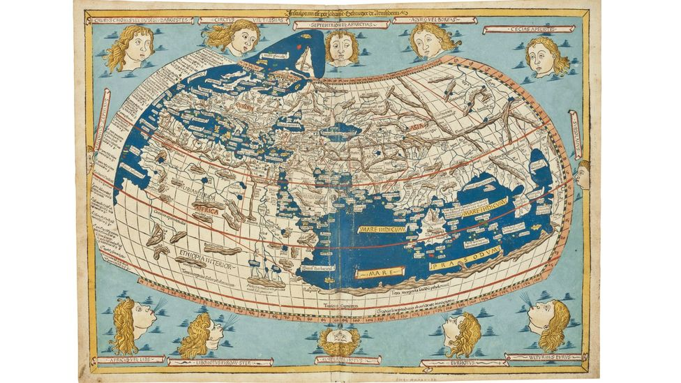 This 1482 world map by Claudius Ptolemy could fetch $180,000 to $240,000 at Christie's sale in April, 2014. (Christie's)