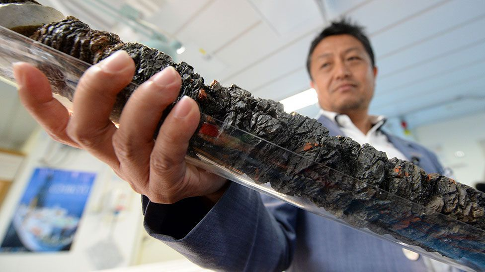 Efforts to sample the deep crust to explore the origins of earthquakes are also revealing life at extreme temperatures and pressures. (Toshifumi Kitamura/AFP/Getty)
