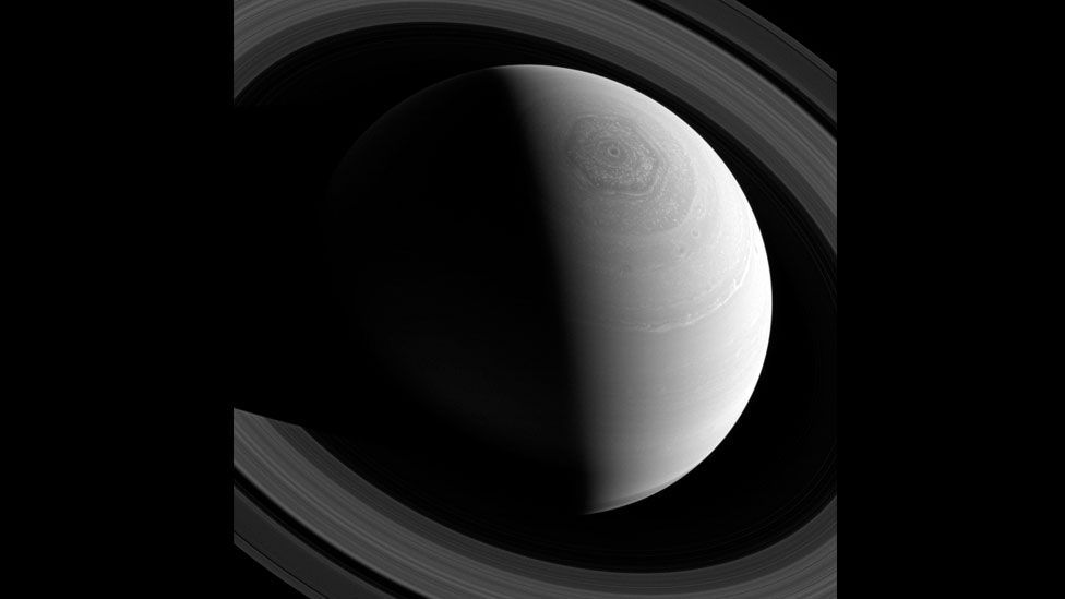 Saturn, shot by the Cassini spacecraft using special filters, as it flew past approximately 1.6 million miles (2.56 million km) away. (Nasa/JPL-Caltech/SSI/Reuters)