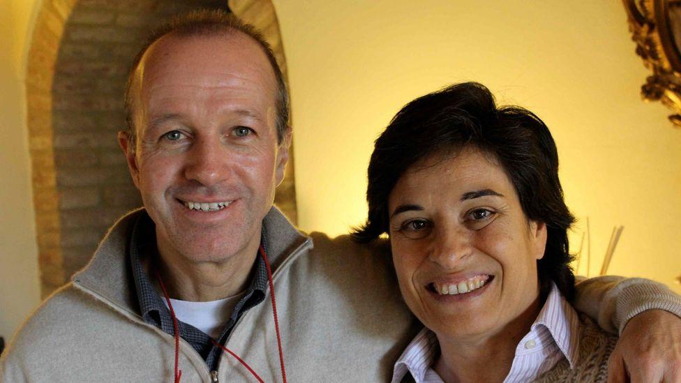 Paola and Stefano Zocchi at their 18th century guesthouse, La Palazzetta del Vescovo in Umbria, Italy. (La Palazzetta del Vescovo)