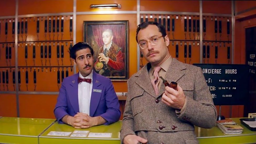 Jason Schwartzman and Jude Law in The Grand Budapest Hotel (Fox Searchlight)