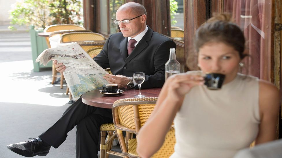 Few French business people have time to stop for a cafe lunch these days. (Thinkstock)