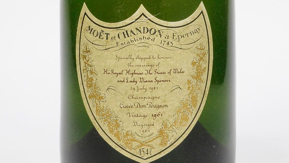This magnum of 1961 Dom Perignon was disgorged in 1981 for the marriage of the Prince of Wales and Lady Diana Spencer. (Christie's Images Ltd)