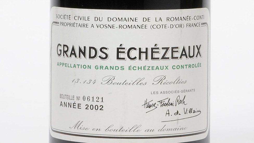 A bottle of Grands-Echézeaux, Domaine de la Romanée-Conti, 2002, could fetch as much as £750 ($1,240) in a Christie's auction in April, 2014. (Christie's Images Ltd)