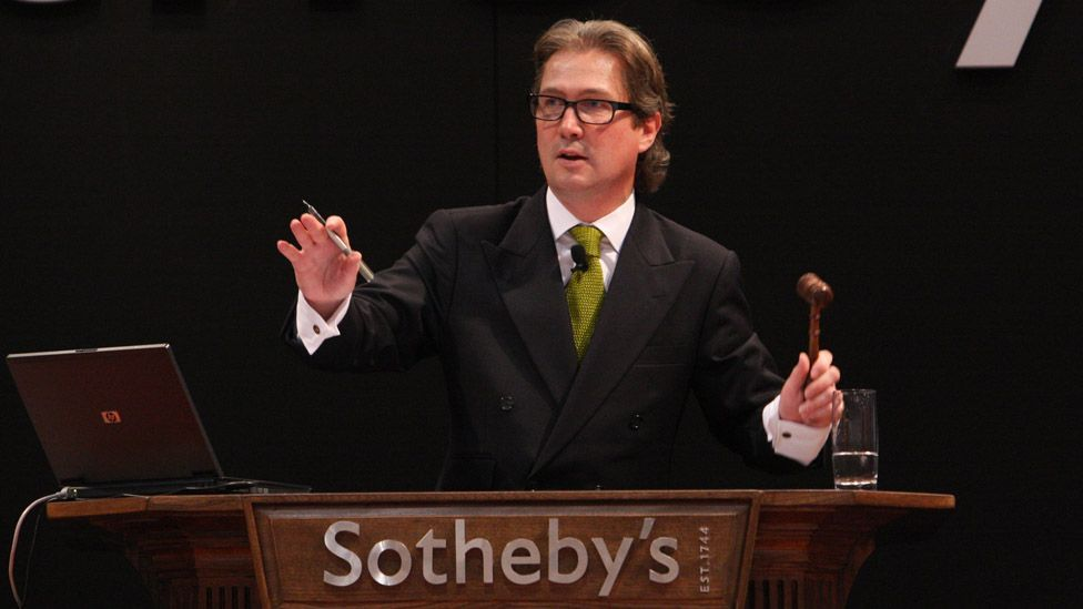 Jamie Ritchie, Sotheby's head of fine wines in the Americas and Asia at a 2010 Hong Kong auction where a bottle of Chateau Lafite, 1869, sold for HK$1.8m ($232,700). (Sotheby's)