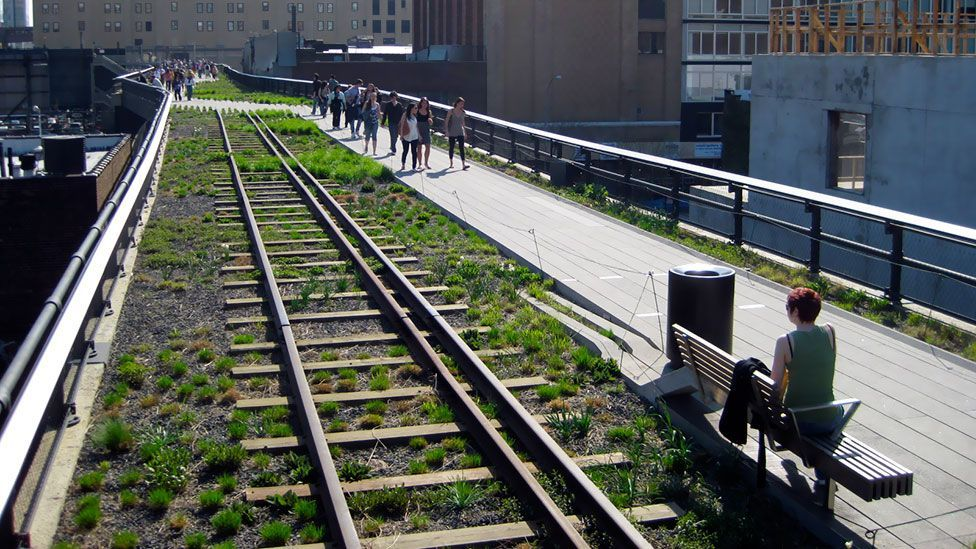 New York's Highline project turned an old elevated railway into a green artery running through Manhattan (Wikimedia Commons)