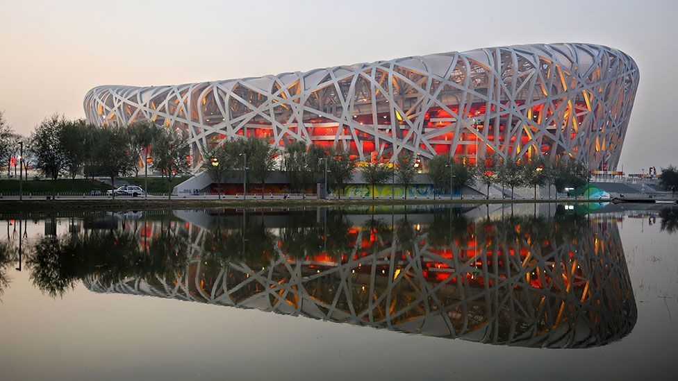 The Bird's Nest Stadium, which Ai helped design. (Frederic J Brown/AFP/Getty Images)