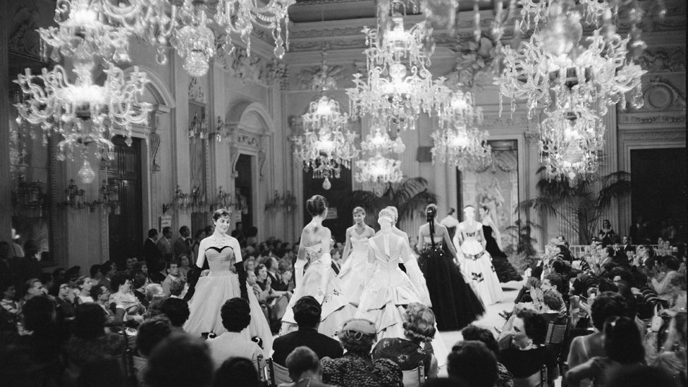 An early fashion show in Florence's Palazzo Pitti (Giorgini Archive)