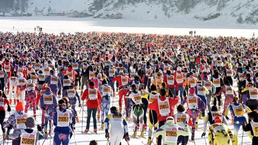 Crowding in cross-country skiing is a trickier problem to solve (Walter Bieri/AP)