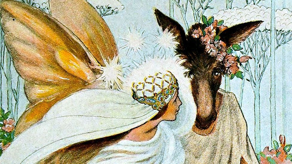 Titania, the Queen of the Fairies, was given a drug that made her fall in love with the first thing she saw on awakening (XYX collection/Alamy)