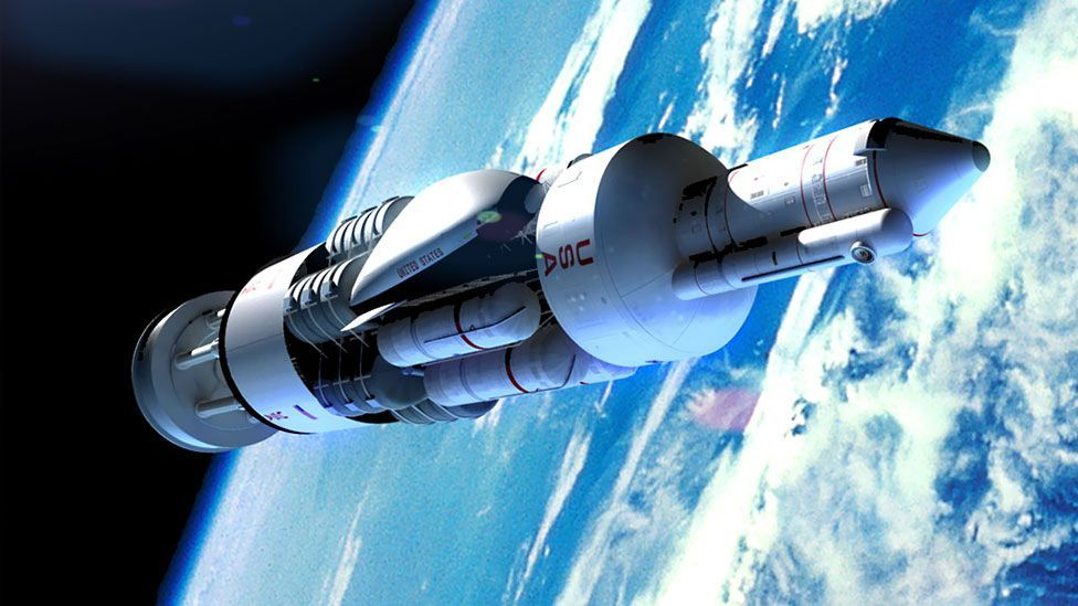 The 1950s-era Orion project would have propelled a rocket using enormous nuclear explosions (Adrian Mann)