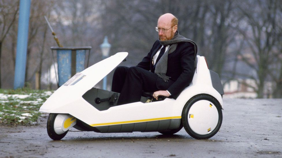 Clive Sinclair's C5 vehicle, launched in the 1980s, joined a long list of personal transport vehicles that failed to go mainstream. (Getty Images)