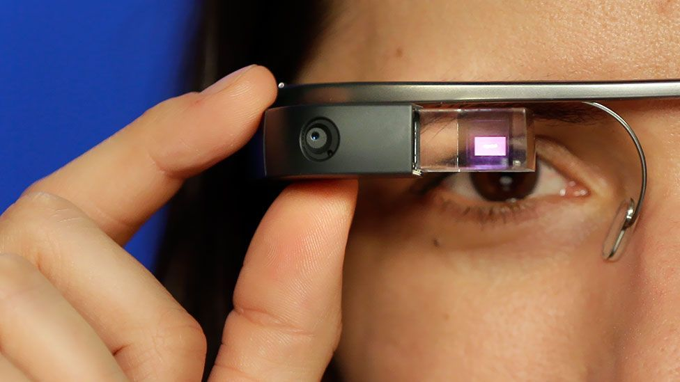 You can't miss somebody wearing Google Glass, and some think that's a problem (AP Photo/Seth Wenig)