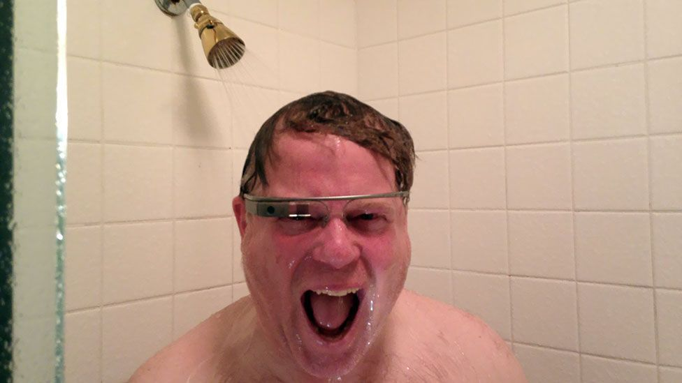 Robert Scoble gained notoriety for his enthusiastic photo wearing Google Glass in the shower - now he's not so sure about the device (Robert Scoble/Scobleizer.com)