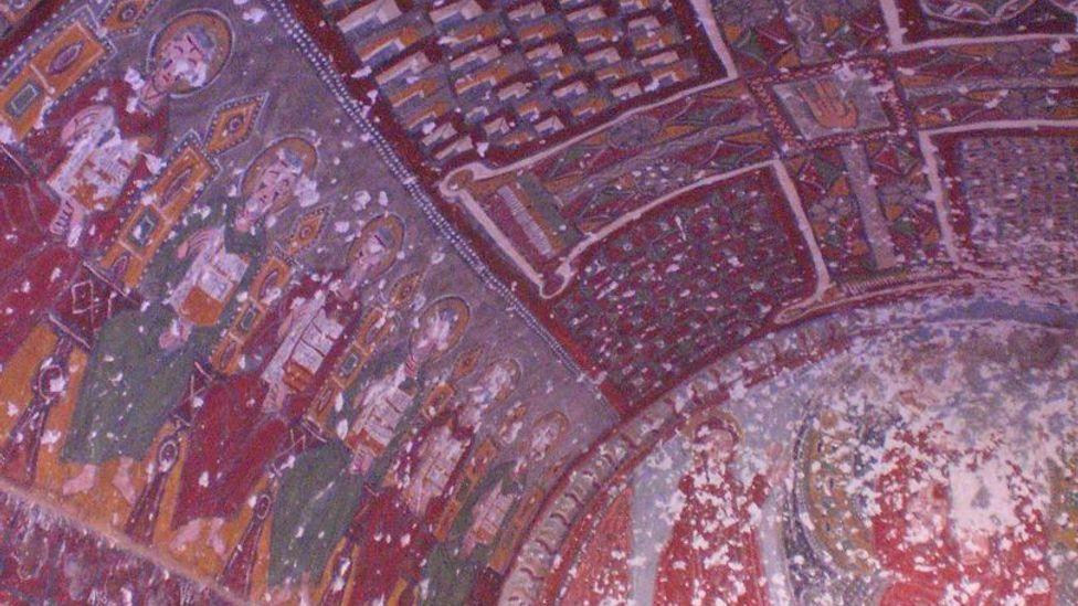 Fresco-decorated interior of one of Ihlara Valley's churches (Jess Lee)