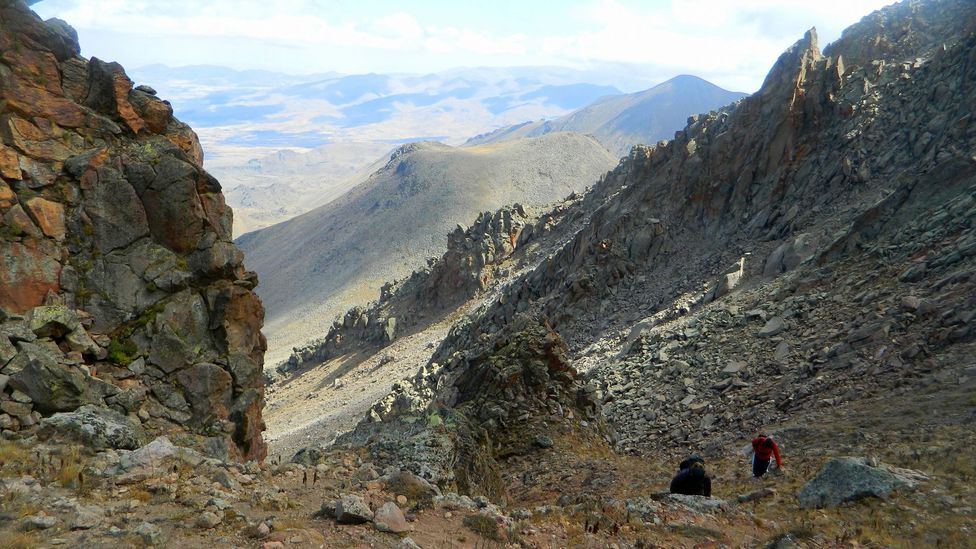 The scree-slopes towards the top of Mount Hasan are the trickiest part of the hike to navigate. (Jess Lee)