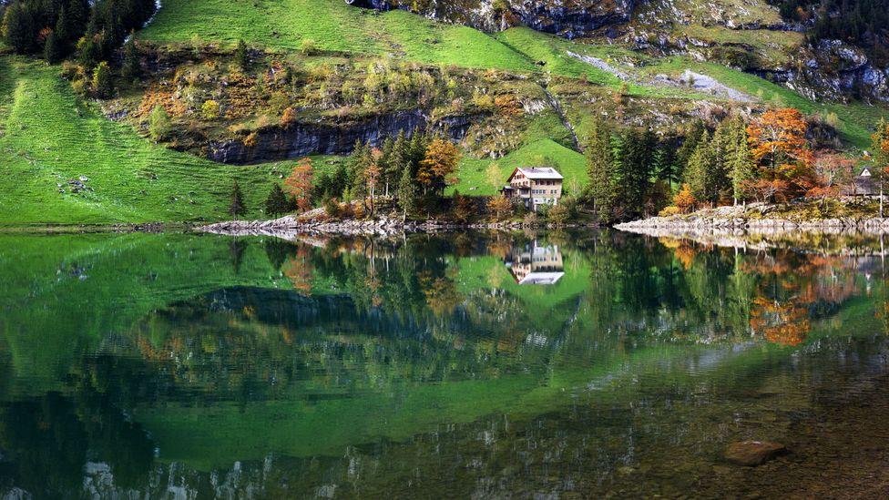 Lake Seealpsee, Appenzell, Switzerland