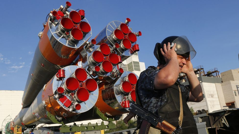 One pre-launch superstition is that astronauts are banned from watching the rocket make its way to the launch pad (AP)