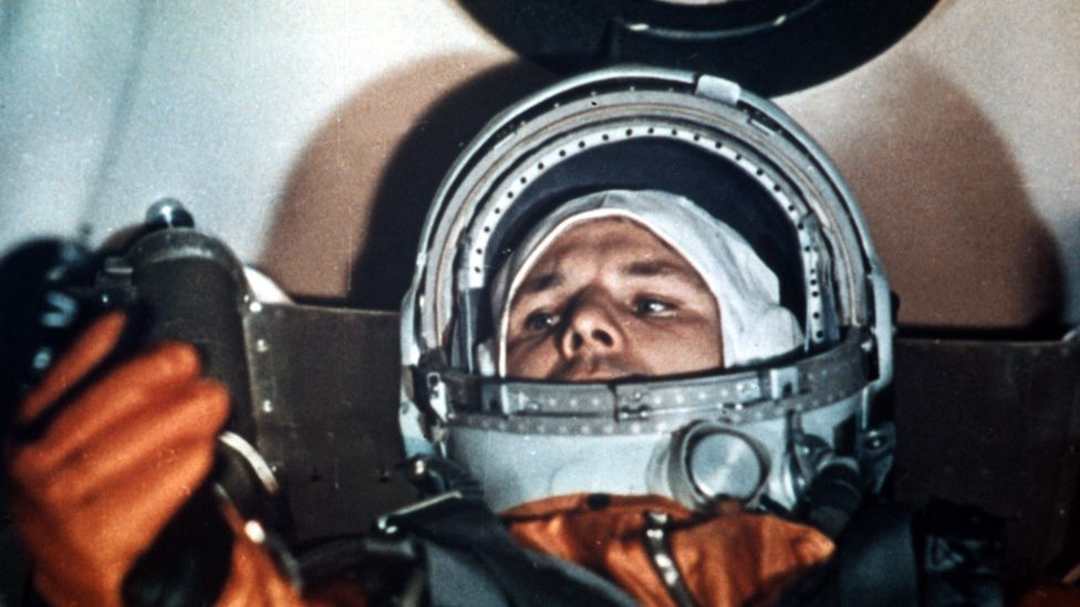 Cosmonaut Yuri Gagarin requested music while he waited in the capsule, beginning a custom for pre-launch love songs (Tass/AP)