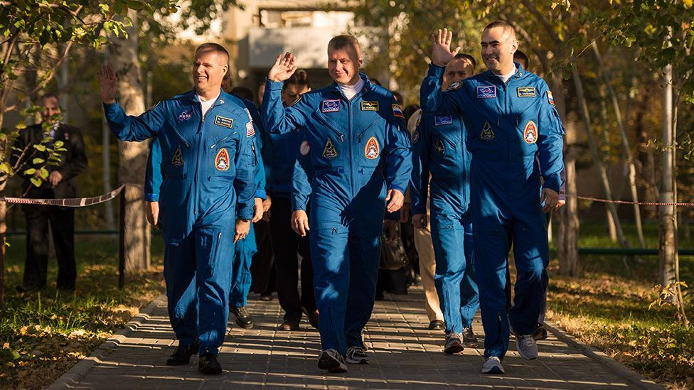 Astronauts on their way to a launch will experience everything from cheerleaders to a moment of relief (Getty Images)