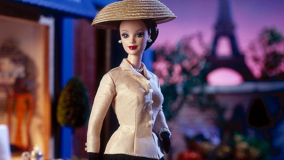 Barbies have always been fashionable. This 1997 collector Barbie represents Dior. (Mattel)