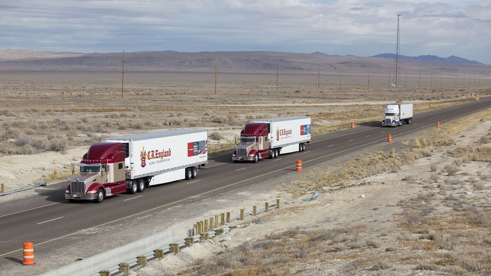The trucks will be able to drive with a gap of only a few metres between them (Peloton Technology)