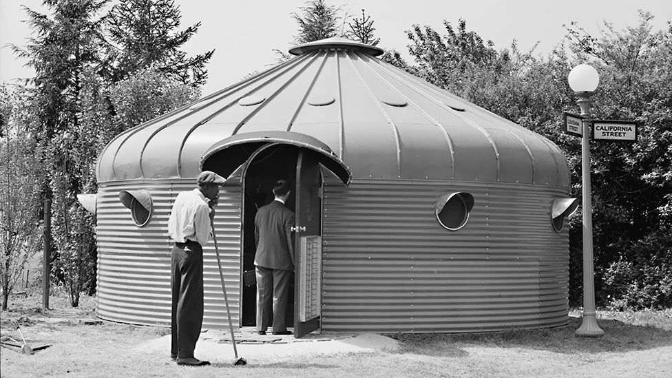 Dymaxion House was designed by Fuller in 1927. (Everett Collection Historical/Alamy)