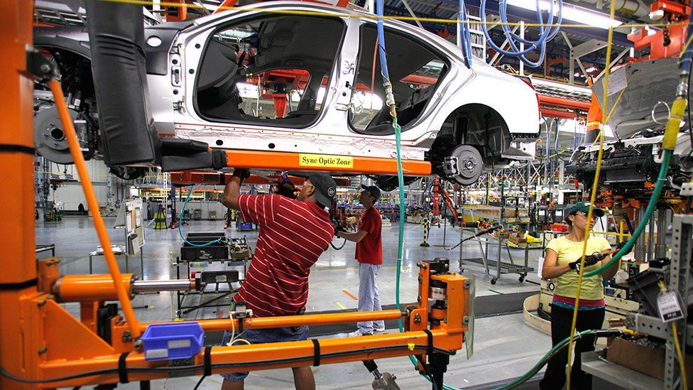 The labour force has already shrunk in areas such as car factories amid increasing mechanisation (Getty Images)