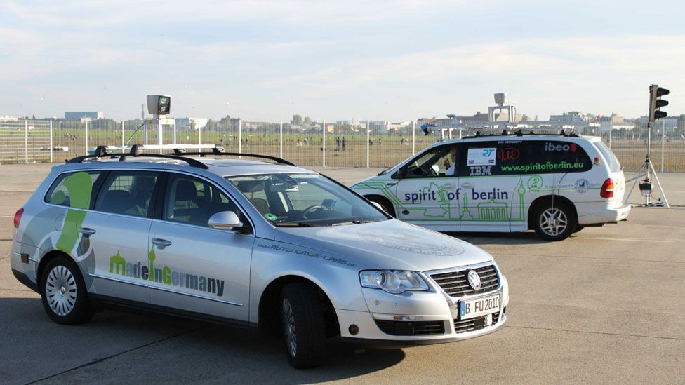 The thought-control tests were run at a former airport, to ensure safety (Brain Driver)