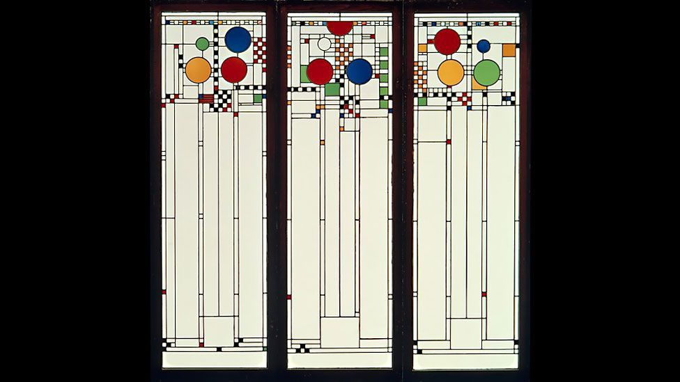 Frank Lloyd Wright's stained-glass window, 1912