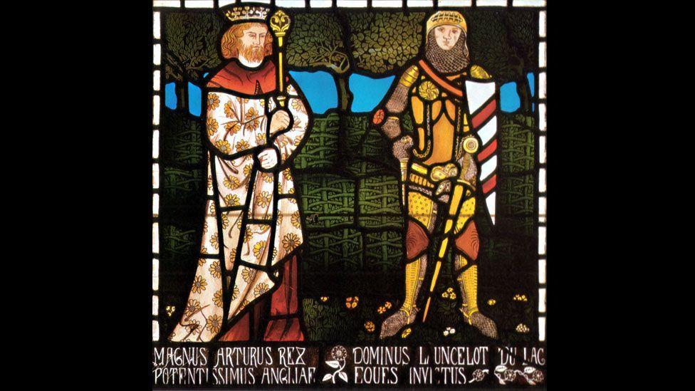 King Arthur and Sir Lancelot, 1862