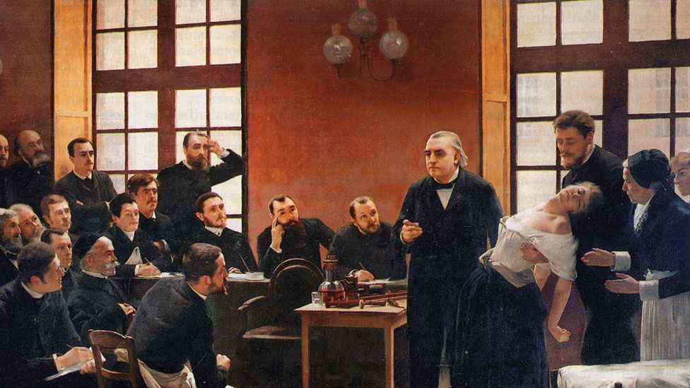 Neurologist Jean-Martin Charcot is depicted demonstrating hysteria in a woman called Blanche Wittman (Wikipedia/CC-PD-Mark)