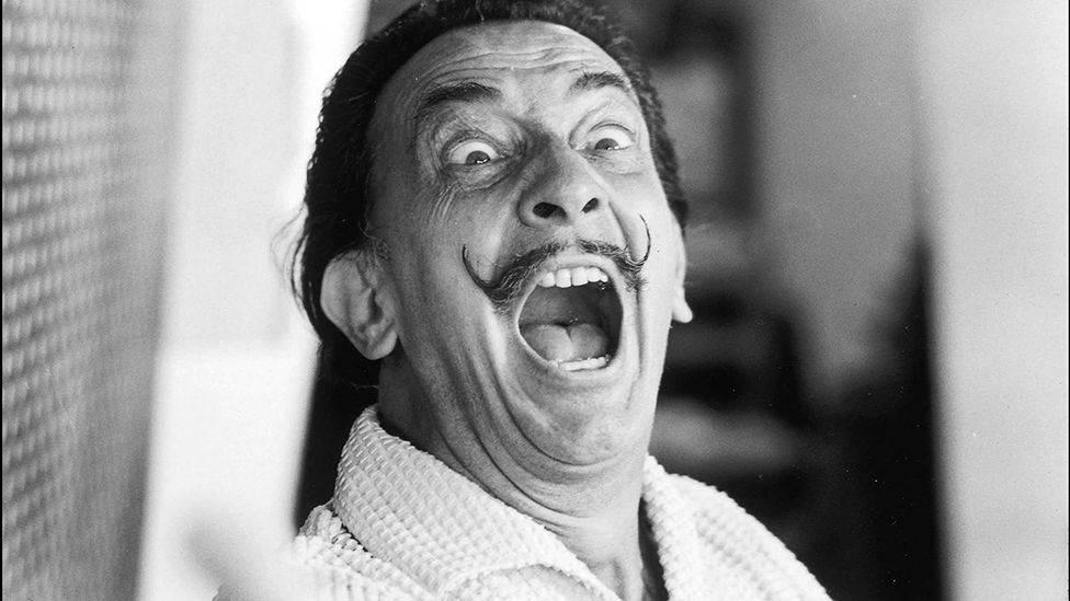 """Dalí's moustache was """"the most serious part"""" of his personality, according to the artist (Rex/Sipa Press)"""