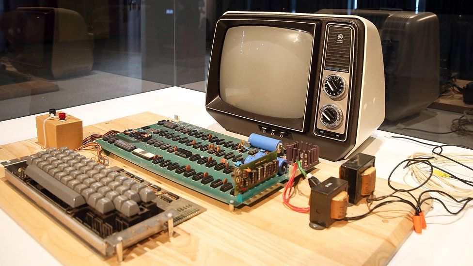 First, make sure it's not valuable. An Apple-1 motherboard fetched $387,750 at a Christie's auction. (Justin Sullivan/Getty Images)