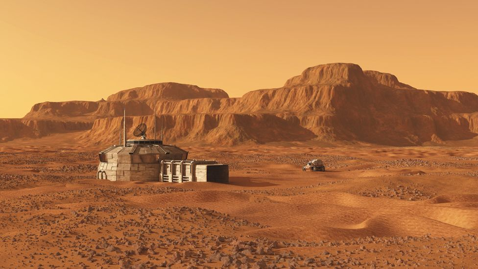 Colonists on Mars would have to deal with life in an environment hostile to humans (Science Photo Libary)