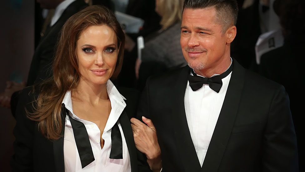 Angelina Jolie and Brad Pitt attend the 2014 BAFTA Awards (Chris Jackson/Getty Images)