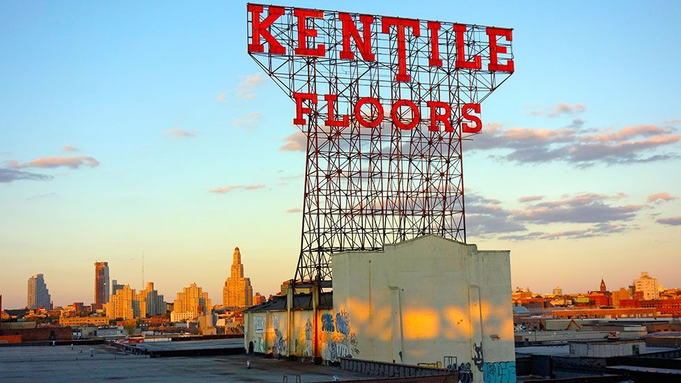 New Yorkers campaigned to save the iconic Kentile Floors sign in Brooklyn (Randy Duchaine/Alamy)