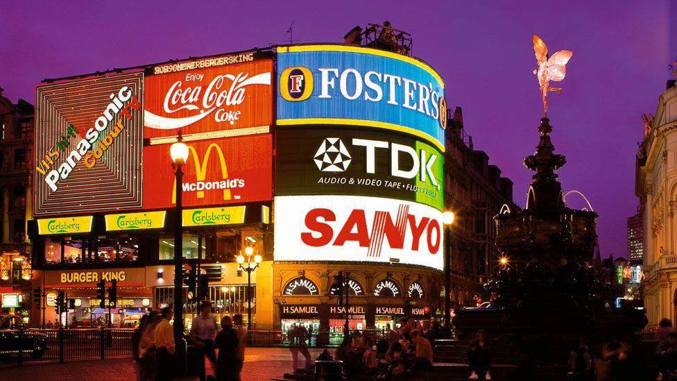The last neon sign in London's Piccadilly Circus was replaced in 2011 (Alamy)
