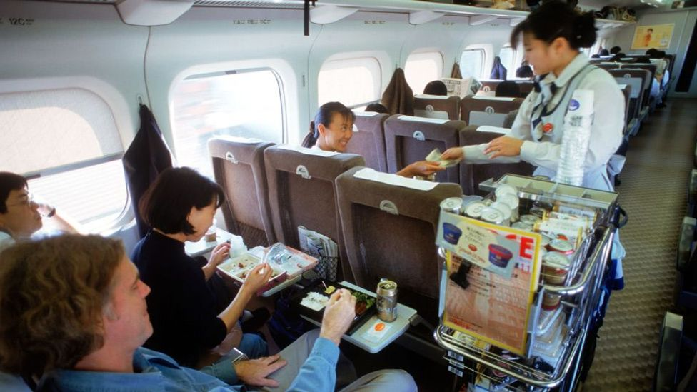 The impeccable, unshaken onboard service on a Shinkansen bullet train (Chad Ehlers/Alamy)