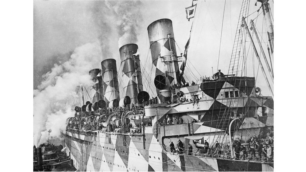 The troopship USS Leviathan, 1918. (Hirz/Frederic Lewis/Archive Photos/Getty Images)
