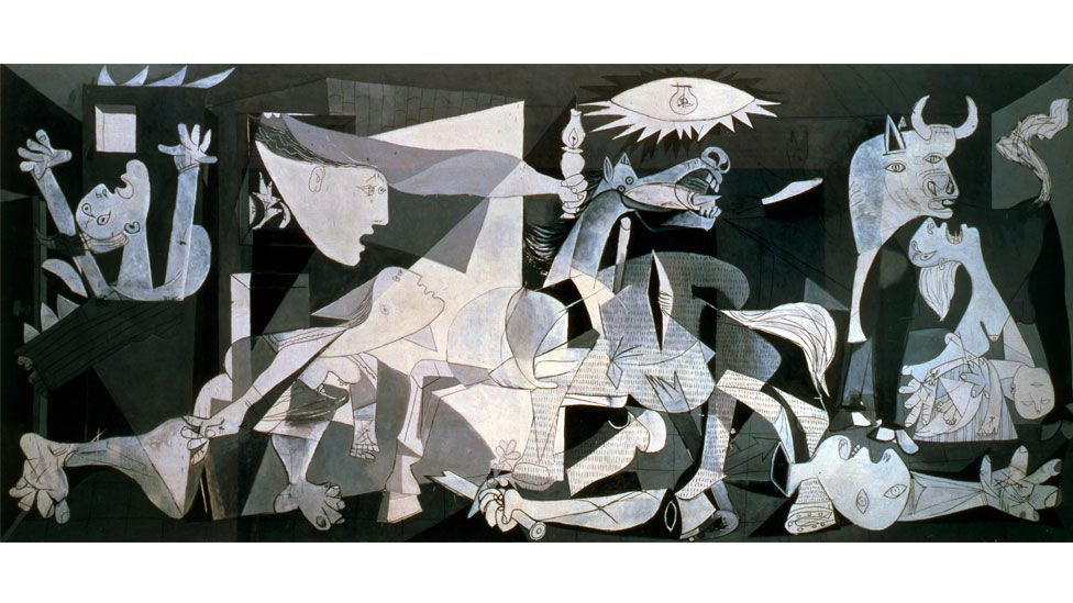 Pablo Picasso's Guernica is a response to the bombing of the Basque town of the same name during the Spanish Civil War (The Print Collector / Alamy)
