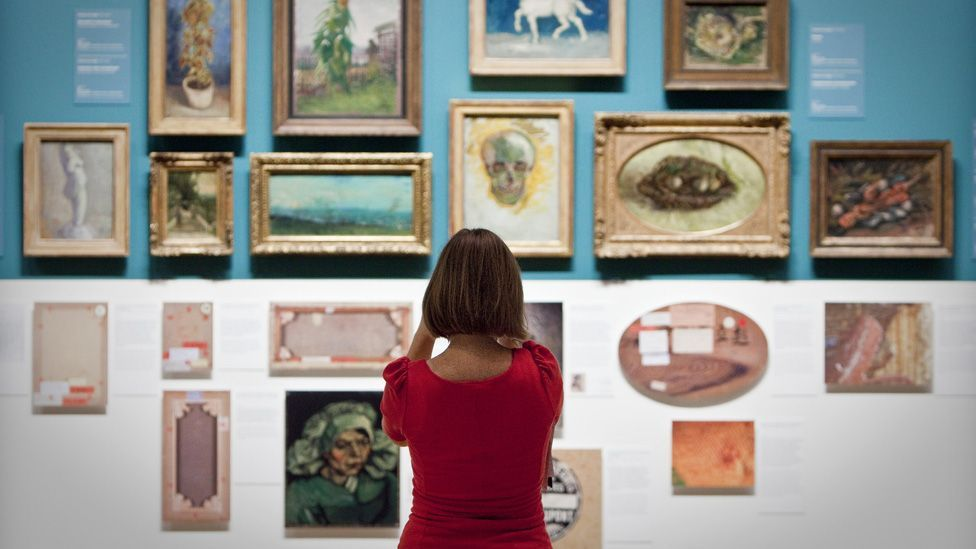 Paintings by Vincent van Gogh in the Van Gogh Museum in Amsterdam (AFP/Getty Images)