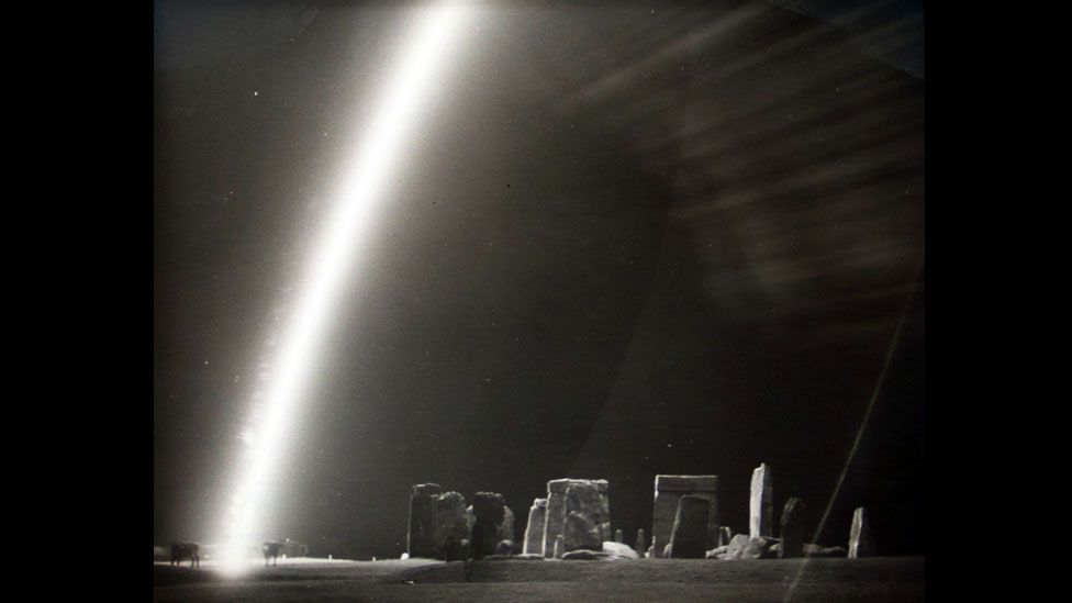 Edgerton's war-time work included experiments to illuminate enemy territory to spot troop concentrations. (Harold Edgerton Archive, MIT)