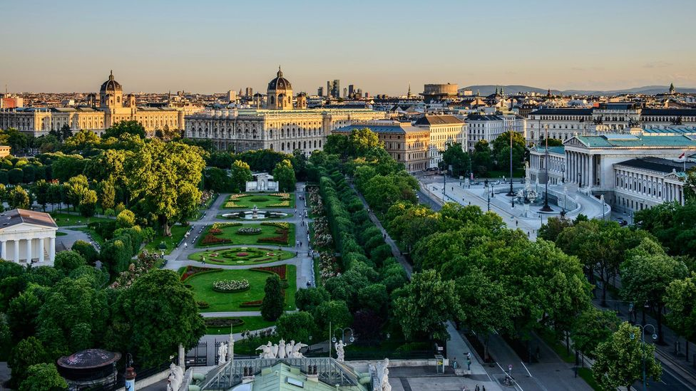 A view of the Ringstraße, in Vienna