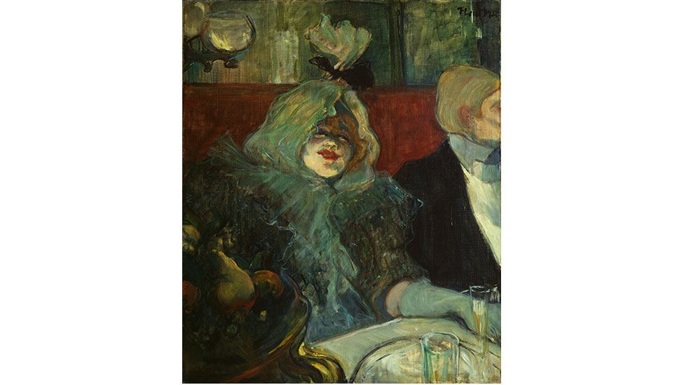 In a Private Dining Room (At the Rat Mort) also known as Tete-a-tete supper by Henri de Toulouse-Lautrec, 1899 (The Samuel Courtauld Trust, London)