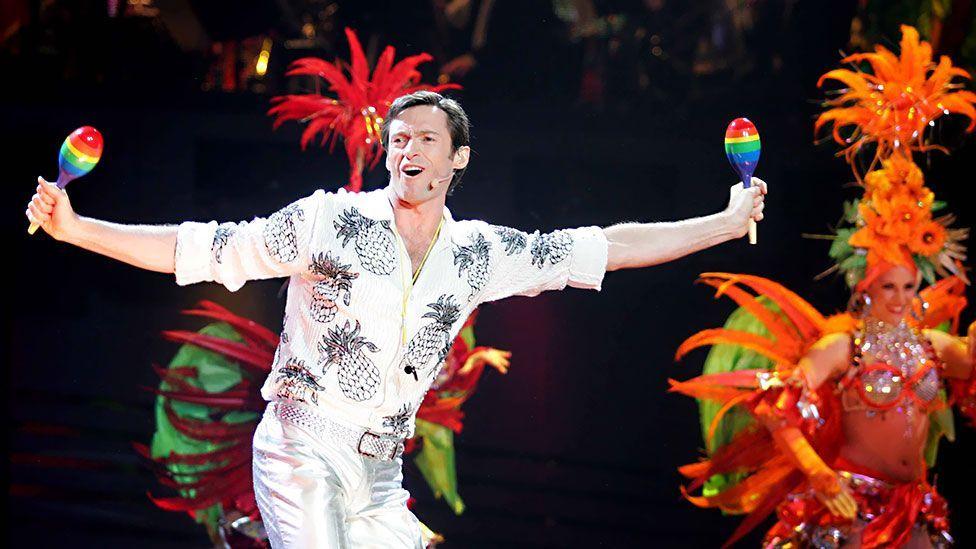 Hugh Jackman in The Boy From Oz musical at the Entertainment Centre, Australia - 2006 (Lindsay Moller/Newspix/REX)